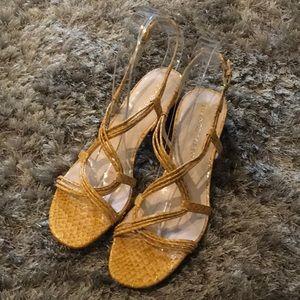 New Franco Sarto Snake Skin Print Sandals